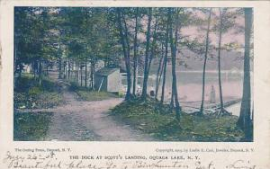 The Dock at Scott's Landing, Oquaga Lake,  New York, PU-00-10s