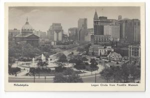 Philadelphia PA Logan Circle 1938 Franklin Museum  K.F. Lutz
