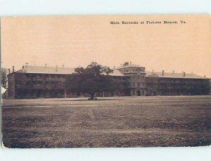 Divided-back MILITARY SCENE Fort Monroe - Old Point Comfort - Hampton VA AF8828