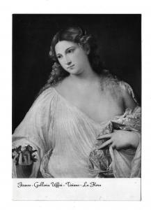 Titian Painting Tiziano La Flora Uffizi Gallery Italy Glossy Photo Postcard 4X6