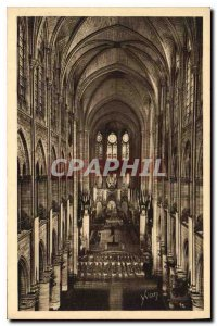 Postcard Old Paris Strolling Note Dame inside the Cathedral