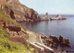 Vintage Giant Size Torquay Devon Postcard Anstey's Cove OS156