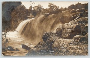 Earlville Iowa~Garrett's Mills~Rocks & Dam~1908 Cal & Cedar Rapids RPO~RPPC