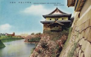 Sengan Turrent Osaka Castle Japan Old Postcard