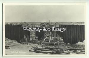 ft1514 - Netherlands - Lelystad , Sluisbouw ( Lock Construction ) - postcard