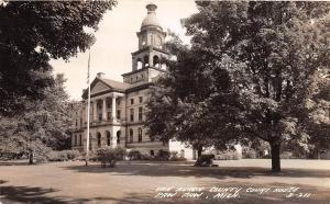 D22/ Paw Paw Michigan Mi Photo RPPC Postcard c30s Van Buren County Court House