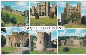 Postcard  Kent Castles of Kent 6 views