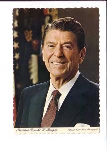 Ronald Reagan, 40th President, Offical White House Photograph,  Washington DC,