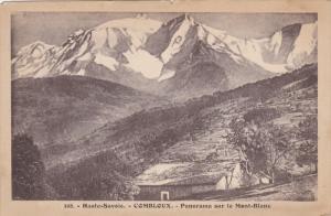 Panorama Sur Le Mont-Blanc, COMBLOUX (Haute Savoie), France, 1900-1910s