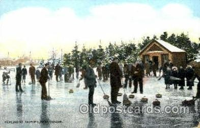 Tayport, Near Dundee, Angus UK Curling Postcard Post Card Unused