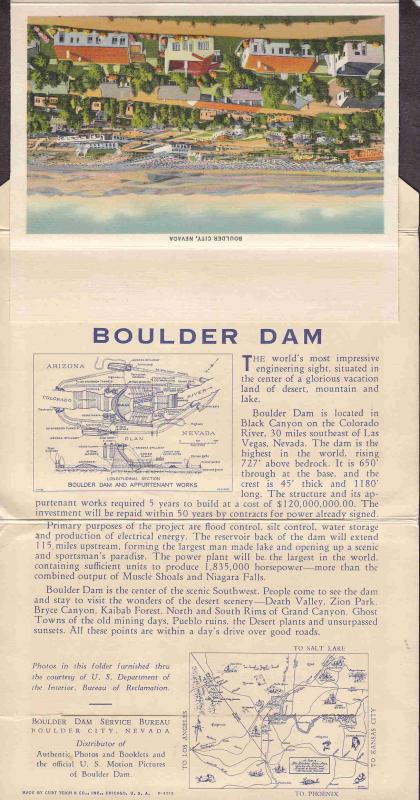 USA BOULDER DAM POSTAL CARDS IN  BOOKLET MANY VIEWS AAC3051