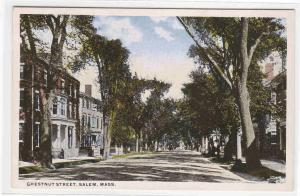 Chestnut Street Salem Massachusetts 1920c postcard