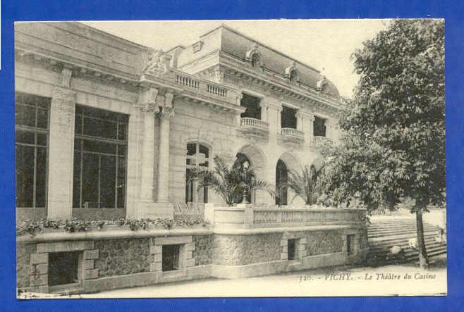 POSTCARD FRANCE VICHY THEATER OF CASINO 1910 years