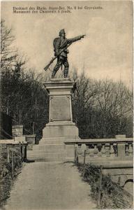 CPA Denkmal des Rhein Jager-Bat. No. 8 bei Gravelotte (393173)
