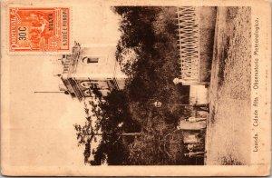 Loanda Portuguese Angola Postcard unused 1920s S Tome Principe Stamp