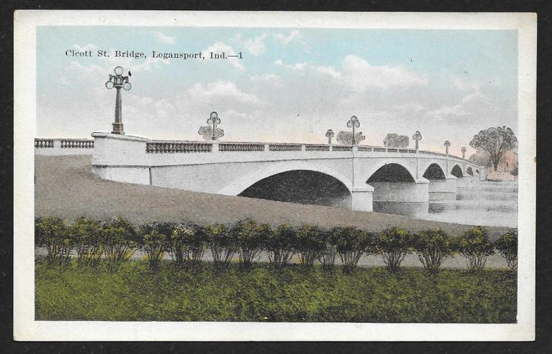 Cicott Street Bridge Logansport Indiana c1920s