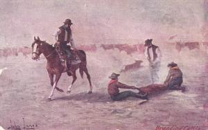 John Innes ; Branding a Cattle , PU-1908