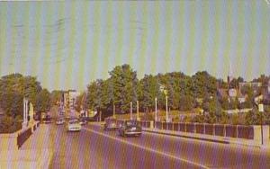 Michigan Petoskey Mitchell Street Bridge Looking East 1955