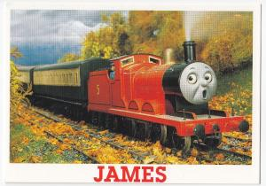 Thomas The Tank Engine & Friends Postcard, Unposted- James, Leaves On The Line