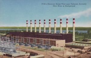 Kentucky TVA's Shawnee Steam Plant Near Paducah Curteich