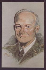 President Eisenhower Portrait by Tina Post Card 3385