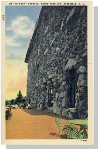 Asheville, NC Postcard, Grove Park Inn Terrace, Near Mint!