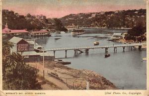 Australia Sydney Harbour, Mosman's Bay, boats, Fresh Food Milk 1909