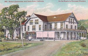 SANTA ROSA , California , 00-10s ; Burk´s Sanatorium closeup