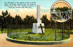 South Dakota Deadwood Henry Weston Smith Monument Curteich