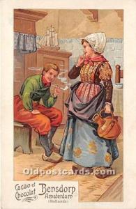 Advertising Postcard - Old Vintage Antique Cacao et Chocolat Bensdorp Amsterd...