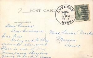 Luverne Minnesota~Blue Mounds State Park~Closeup~Rock Formations 1911 Postcard