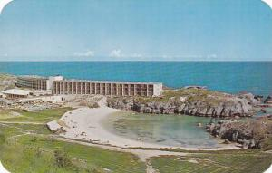 Aerial View Along Beach, The Carlton Beach Hotel, Southampton, Bermuda, 40-60's