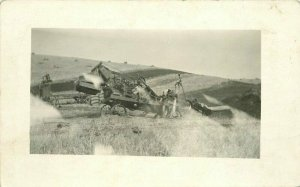 Abandoned Machinery 1920s Farm Agriculture RPPC Photo Postcard 6055