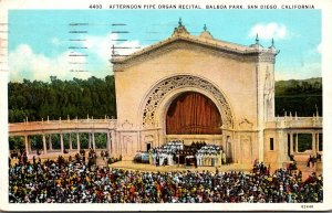 California San Diego Balboa Park Afternoon Pipe Organ Recital 1931