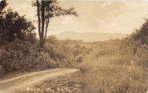 Peru Vermont~#7 Country Road (Unpaved)~Field & Mountains Bknd~c1910 RPPC