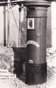 Portugal Estovil Letter Pillar Posting Box Real Photo Postcard