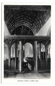 UK Devon Hartland St Nectans Church Rood Screen Vtg Postcard