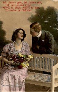 Romantic Couple.    *RPPC