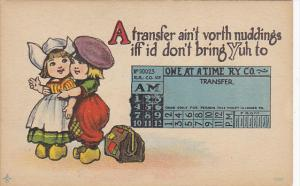 Young Couple A Transfer Ain't Vorth Nuddings One At A Time Railway Company