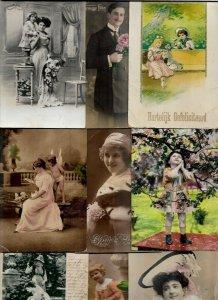 Theme People Fantasy Fashion Postcard Lot of 20 with RPPC 01.08