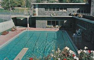 RADIUM HOT SPRINGS, British Columbia, Canada, 1940-60s; View of the Aquacourt...
