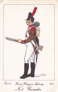 French Portuguese Infantry Army Grenadier Napoleonic War Soldier PB Postcard