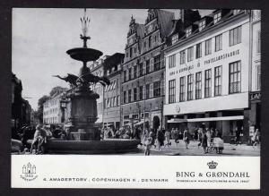 Bing & Grondahl Store COPENHAGEN DENMARK Postcard