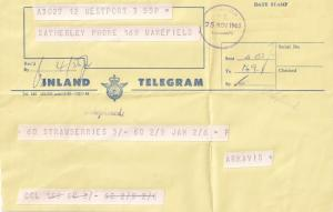 New Zealand Vintage FIVE Old Telegram s incl Strawberries