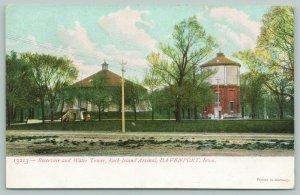 Davenport Iowa~Rock Island Arsenal~Reservoir & Water Tower~c1905 Postcard