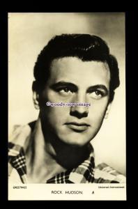 b6446 - Film Actor - Rock Hudson A - Universal Inter. - plain back - postcard
