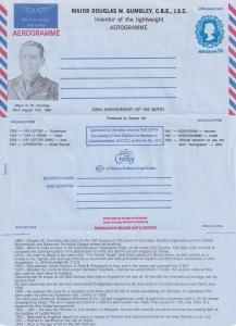 Douglas Gumbley Iraq Military 2x New Zealand Limited Edition Aerogramme s