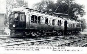 Repro - First Official Train Utica NY Unused