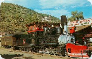 Old Smoke and Cinders Idaho Springs ID old C&S Railroad Clear Creek Postcard