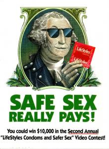 Advertising Safe Sex LifeStyles Condoms 1997